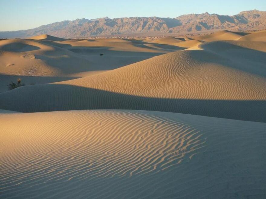 Mesquite Flat Sand Dunes in Death Valley.