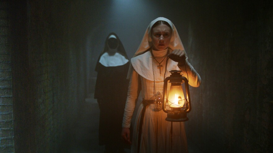 Taissa Farmiga stars as novice Sister Irene in new horror film <em>The Nun.</em>