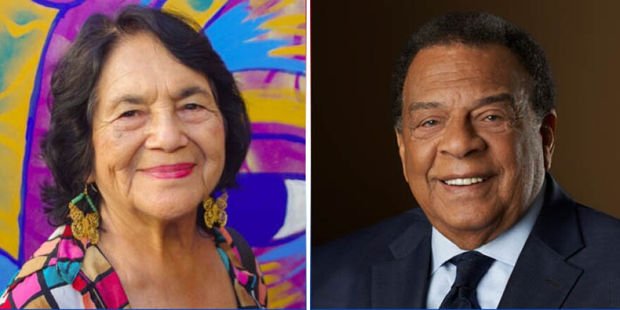 Dolores Huerta and Andrew Young