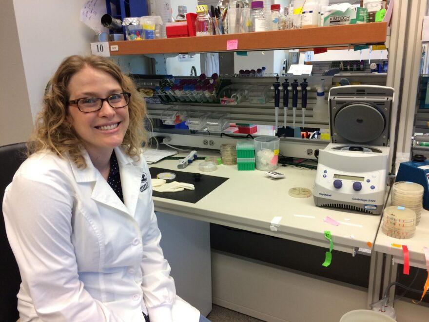 Sarah Zanders of the Stowers Institute studies how selfish genes function. (Alex Smith/KCUR)