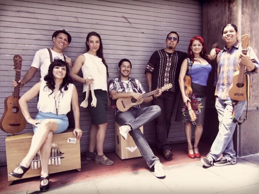 "Los Angeles' Las Cafeteras recorded a version of the classic <em>son jarocho</em> song ""La Bamba."""