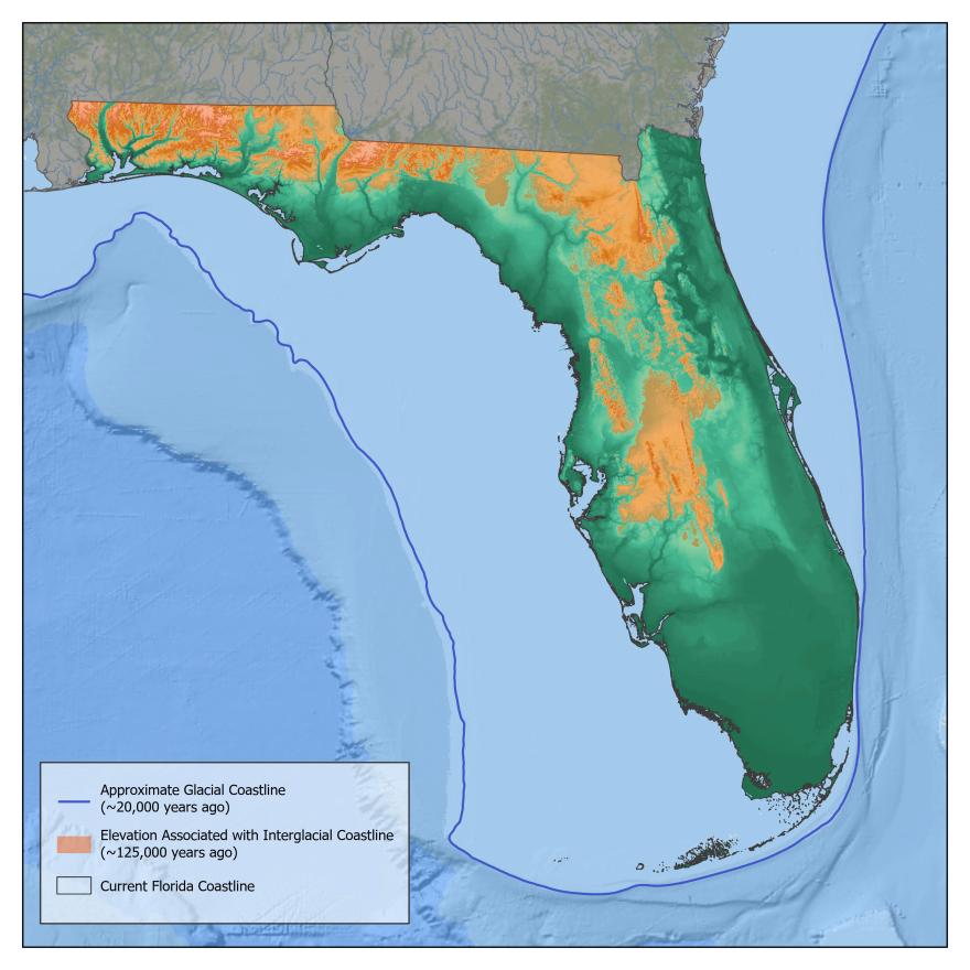 Florida shorelines over time