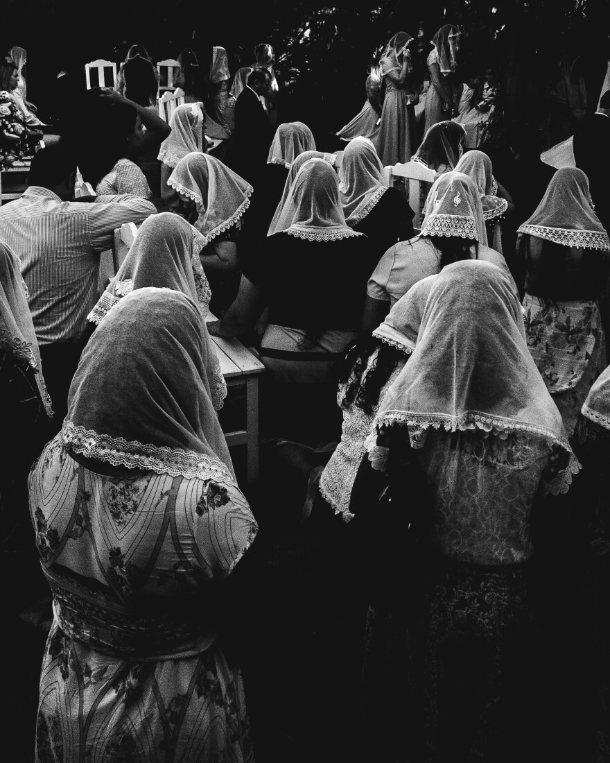 Guests at a religious wedding in Dourados, Mato Grosso do Sul, Brazil.