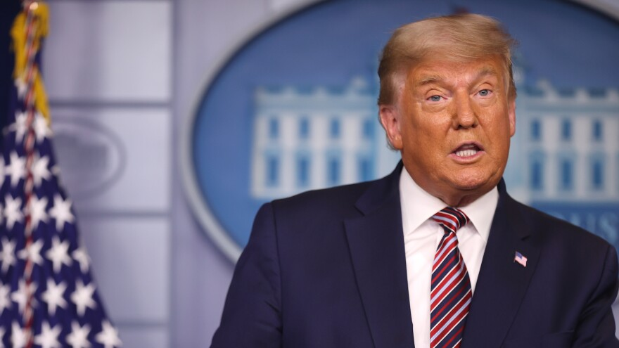 President Trump speaks in the briefing room at the White House on Nov 5. Trump is set to give an update Friday at the White House about efforts to combat the coronavirus.