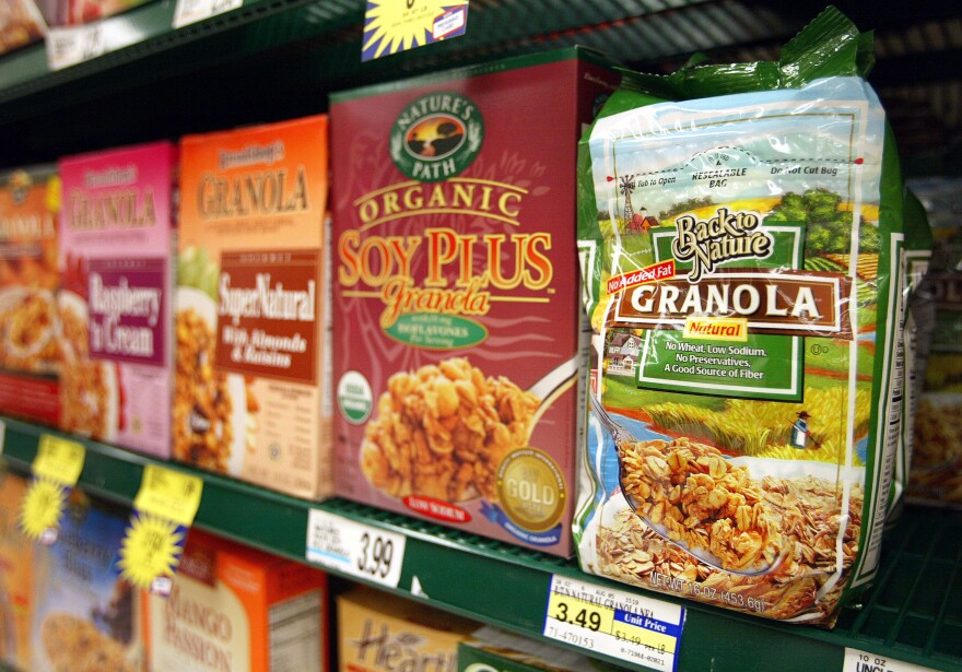 "Granola cereals on a shelf in Glenview, Ill. ""If the FDA were to create a more strict, more comprehensive definition, it would give manufacturers a lot more guidance on whether or not they could use the term 'natural' on their food products,"" says lawyer Ivan Wasserman."
