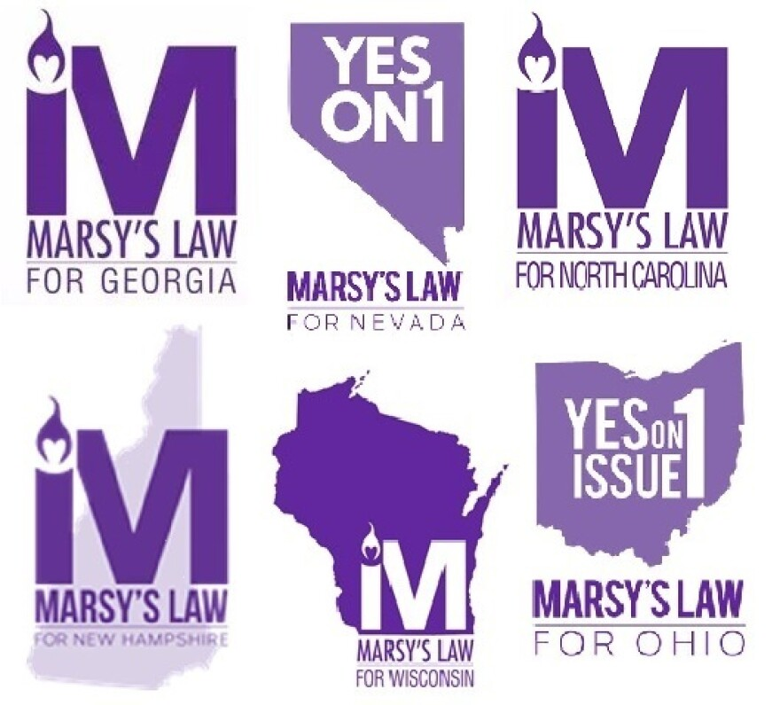 Marsy's Law logos from individual state campaigns.