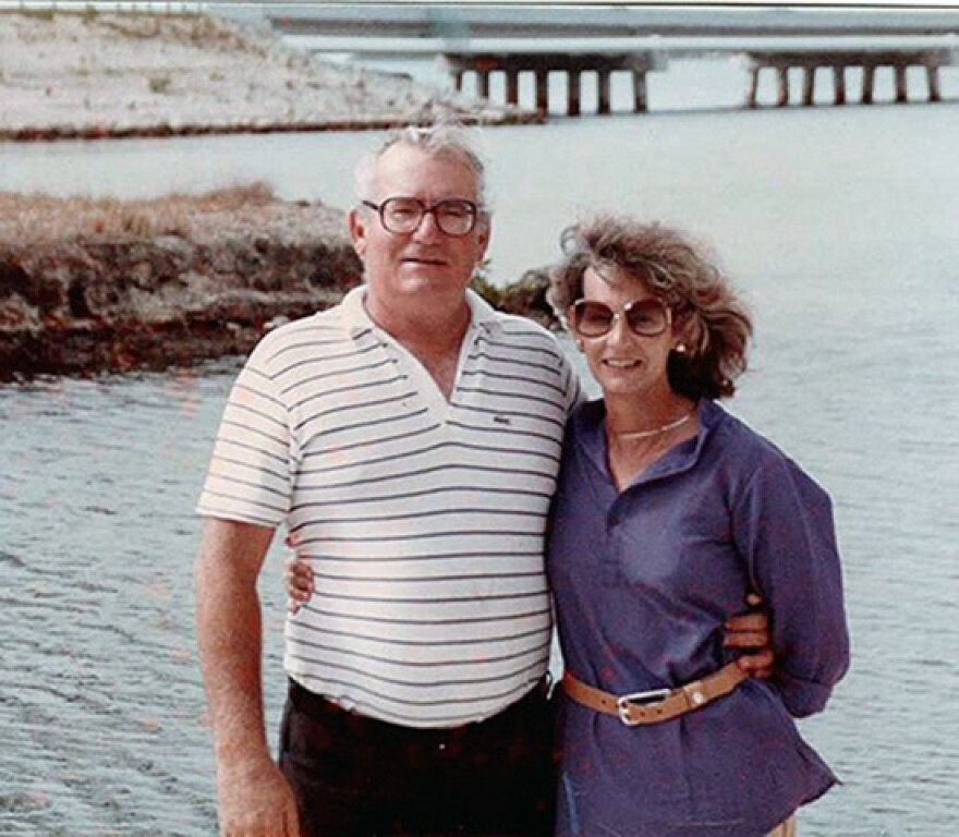 Army veteran Walter Frederich poses with his wife Judith. She said this was taken in the late '90's before her husband was confined to a wheelchair. He died in 2017 after battling radiation-related illnesses.