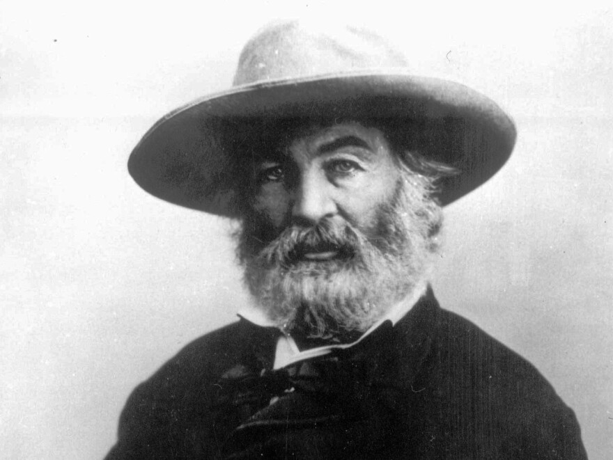Poet Walt Whitman, seen in an undated portrait.