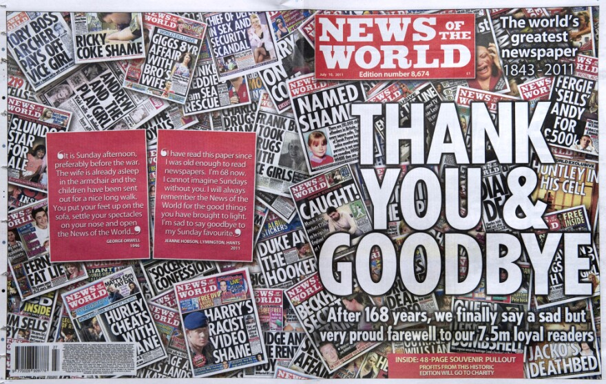 The 168-year-old British tabloid <em>News of the World shut </em>down last July after a widespread scandal that involved phone and voice mail hacking. Now there's a debate about placing new regulations on the British press.