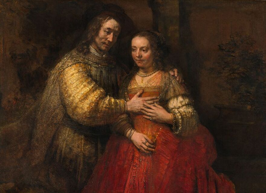 The Jewish Bride,  by Rembrandt, painted around 1665‒1669.