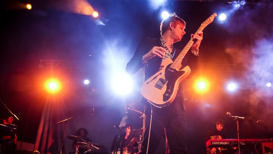 """We wanted to do a record for the people who don't know the band as well,"" says Spoon singer Britt Daniel (center) of the reasoning behind its new greatest hits album, <em>Everything Hits At Once</em><em></em>."