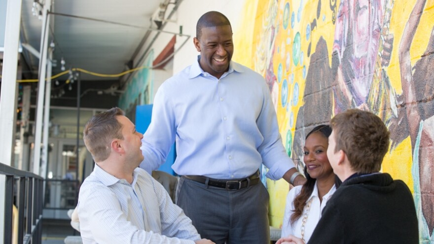 Andrew Gillum smiles in this shot from his campaign website.