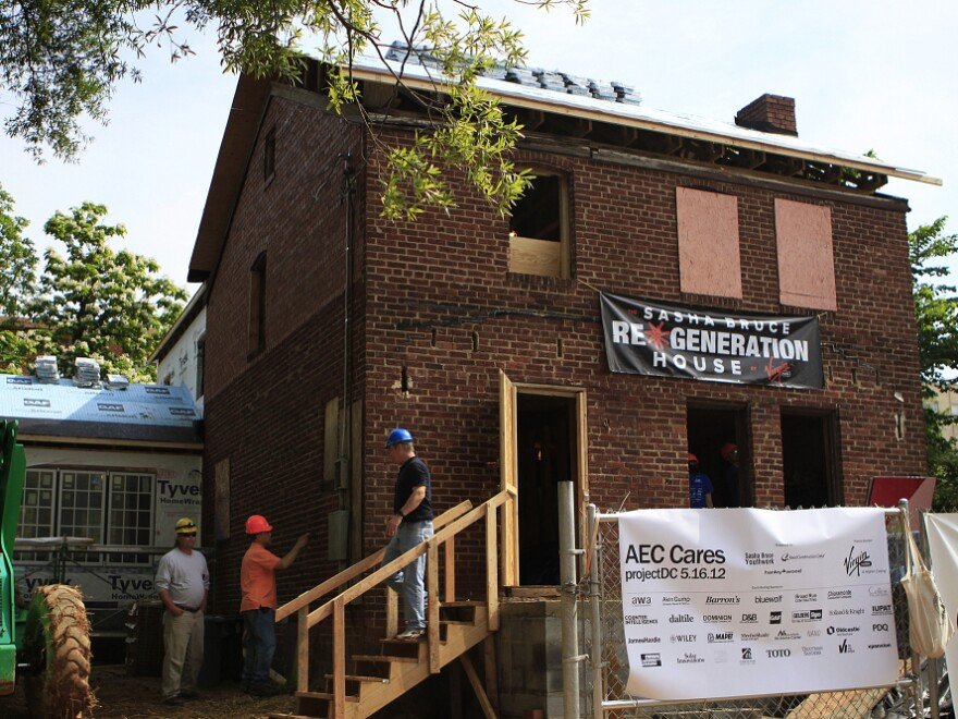 """When complete, the """"blitz build"""" house will become a residence for homeless youth."""