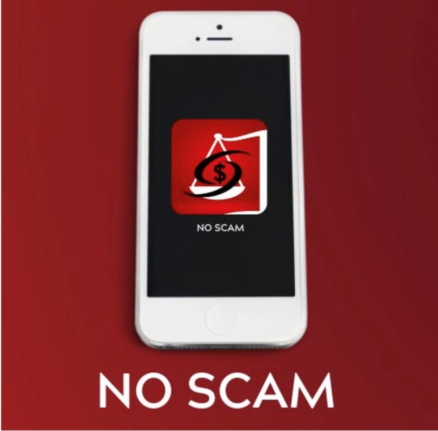 Picture of No Scam App on Phone