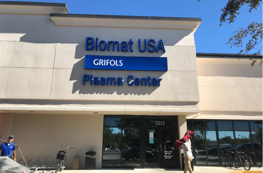 Some people donate at Grifols Biomat USA Plasma Center because they see it as an opportunity to make a difference in the lives of people who need life-saving treatment for the coronavirus. Others are enticed by the prepaid Visa card they receive on the way out.