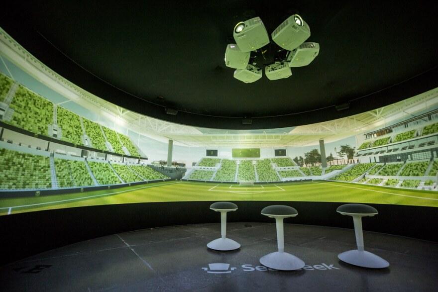 A virtual image of the future Austin FC soccer stadium