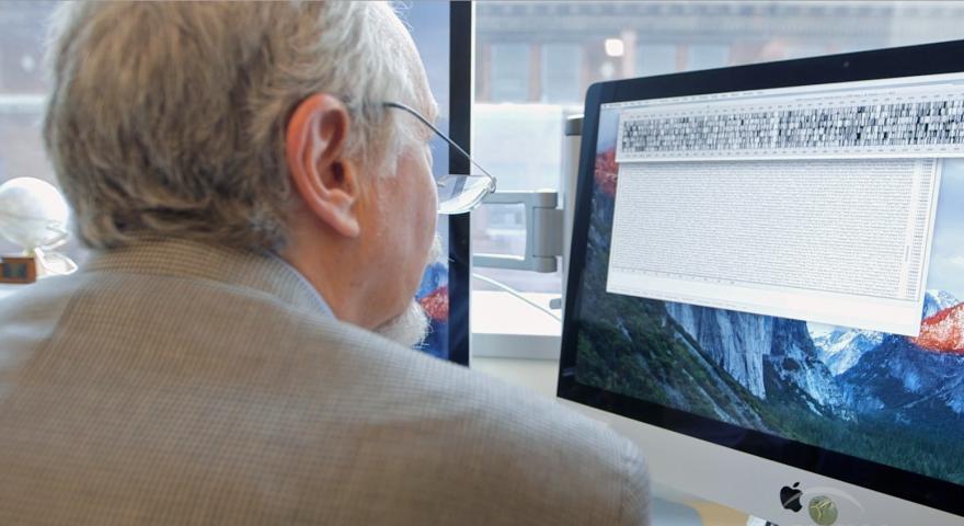 Geneticist Jef Boeke of New York University studies DNA sequences from baker's yeast.