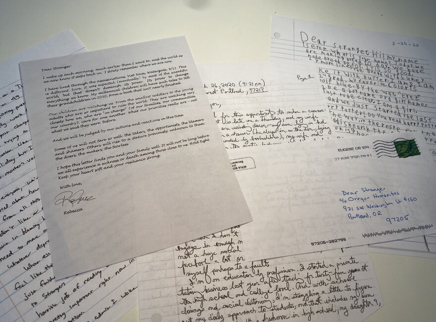 """Letters submitted to the """"Dear Stranger"""" project sponsored by Oregon Humanities."""
