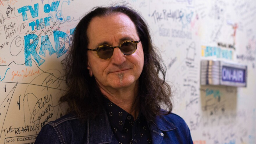 Geddy Lee outside the World Cafe Performance Studio at WXPN in Philadelphia.