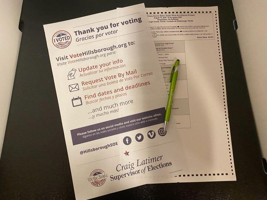 an election ballot