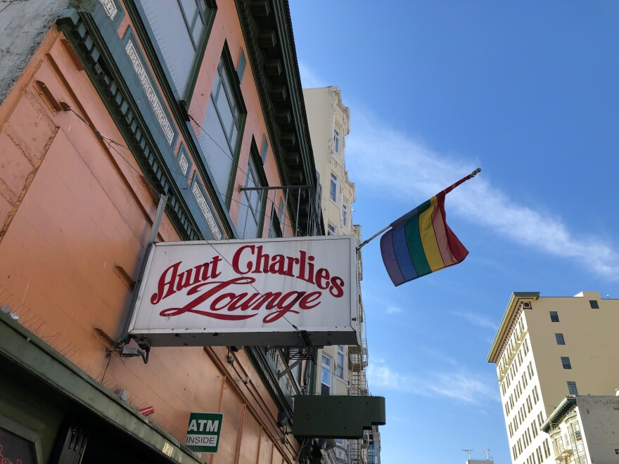 Aunt Charlie's Lounge in San Francisco's Tenderloin neighborhood is a gathering spot for locals who lived here long before gentrification was a major concern.