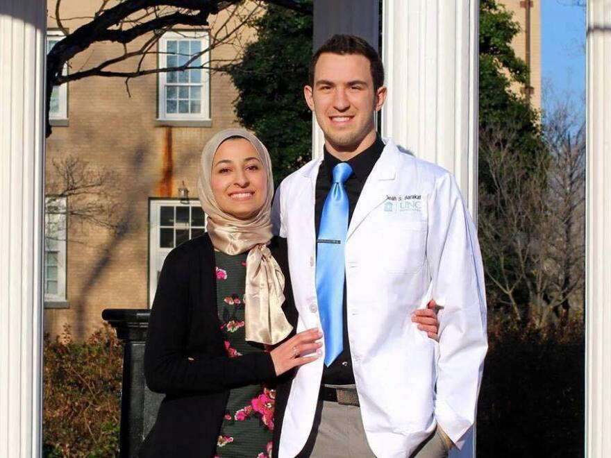 Yusor Mohammad, 21, and Deah Shaddy Barakat, 23, were shot and killed on Tuesday evening in North Carolina. The couple married last December.