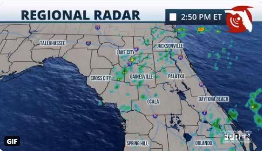 Florida weather map
