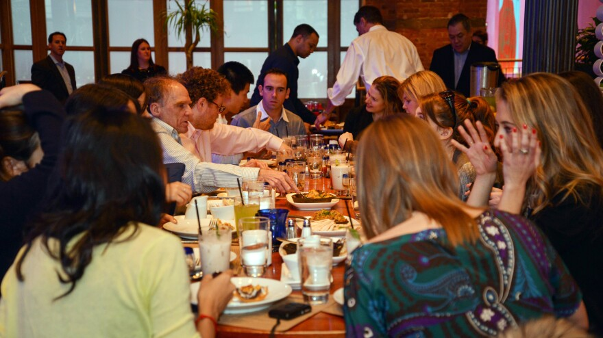 Diners enjoy a Mexican Passover meal at Rosa Mexicano in Washington, D.C., in 2013.