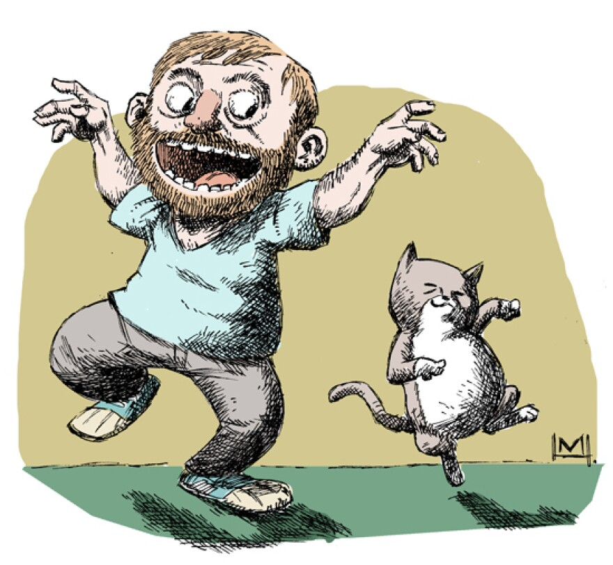 Mike and Ella as if drawn by Maurice Sendak.