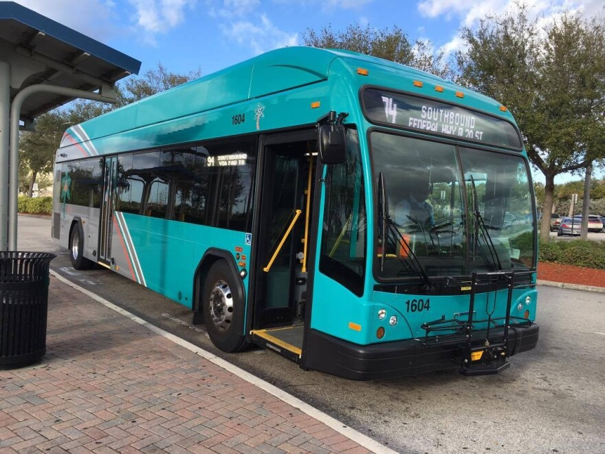 To ensure social distancing, the Palm Tran in Palm Beach County is only taking 20 passengers at a time right now.