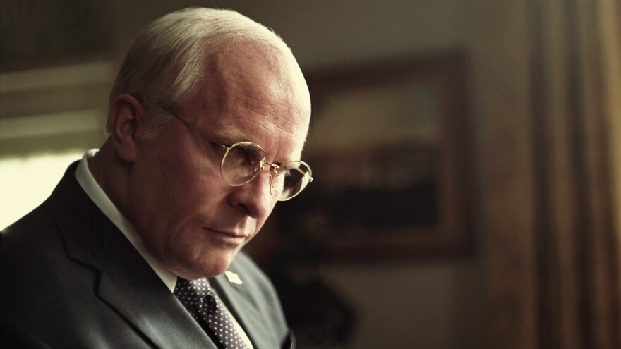 Christian Bale stars as Dick Cheney in <em>Vice</em>. The film, which was written and directed by Adam McKay, has been nominated for six Golden Globe Awards.