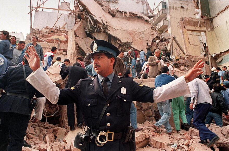 This 1994 attack on a Jewish community center in Buenos Aries, Argentina, killed 85 and demolished a seven-story building. The case has never been solved and is currently at the center of a major controversy in Argentina.