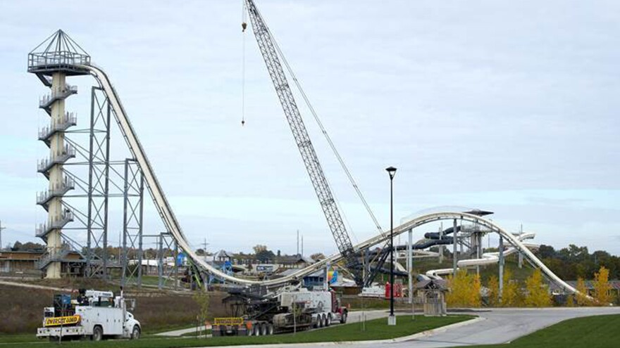 A judge has dismissed all remaining criminal charges over the death of 10-year-old Caleb Schwab, who was killed while riding the 17-story Verruckt waterslide at the Schlitterbahn Waterpark in Kansas City, Kan. The process of tearing down the slide began last fall.