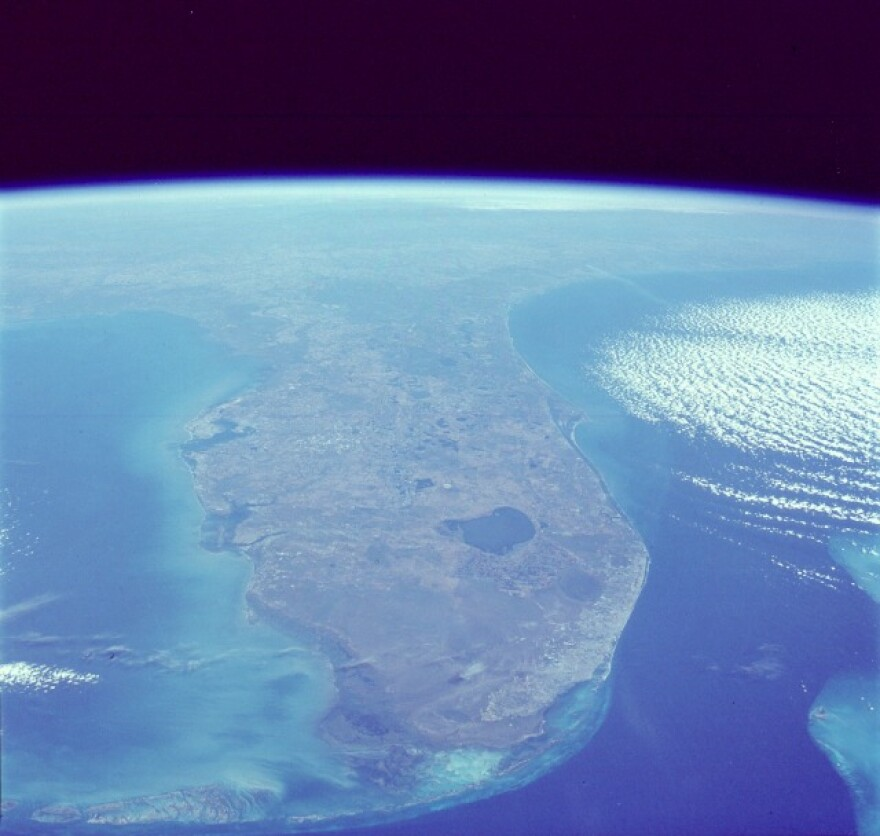 Lake Okeechobee and South Florida viewed from space.