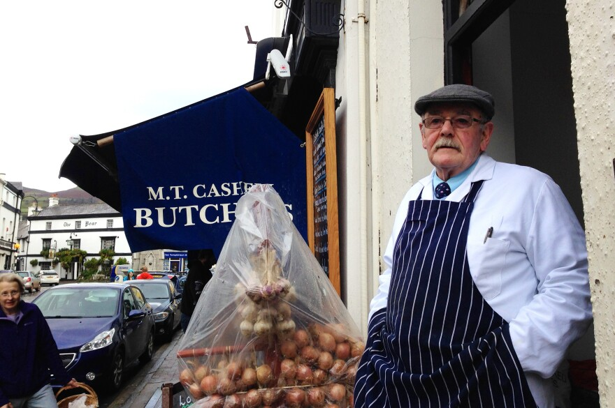 Michael Cashel, a local butcher who has been in Crickhowell for 40 years, is a fierce defender of the town's independent businesses.
