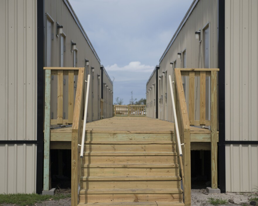 Many airmen at Tyndall are living in dorms, some that survived the storm and others built afterwards so that service members no longer had to sleep in tents.