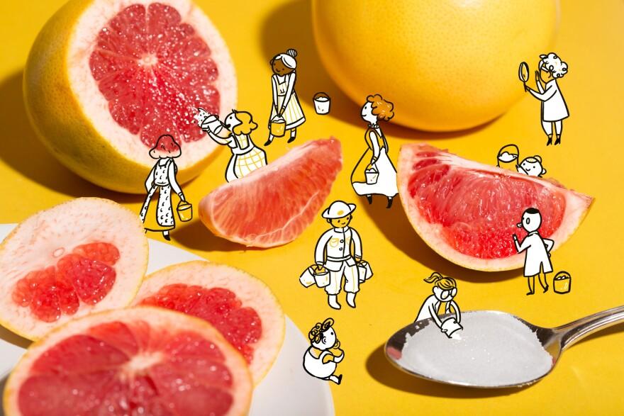 Does salt really make grapefruit taste better?