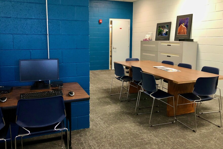 The Tipton Re-Entry Center resembles an office space, with desktop computers, conference tables and carpeted floors. The center, which opened Wednesday, aims to break the cycle of reincarceration by connecting inmates with job resources prior to release.