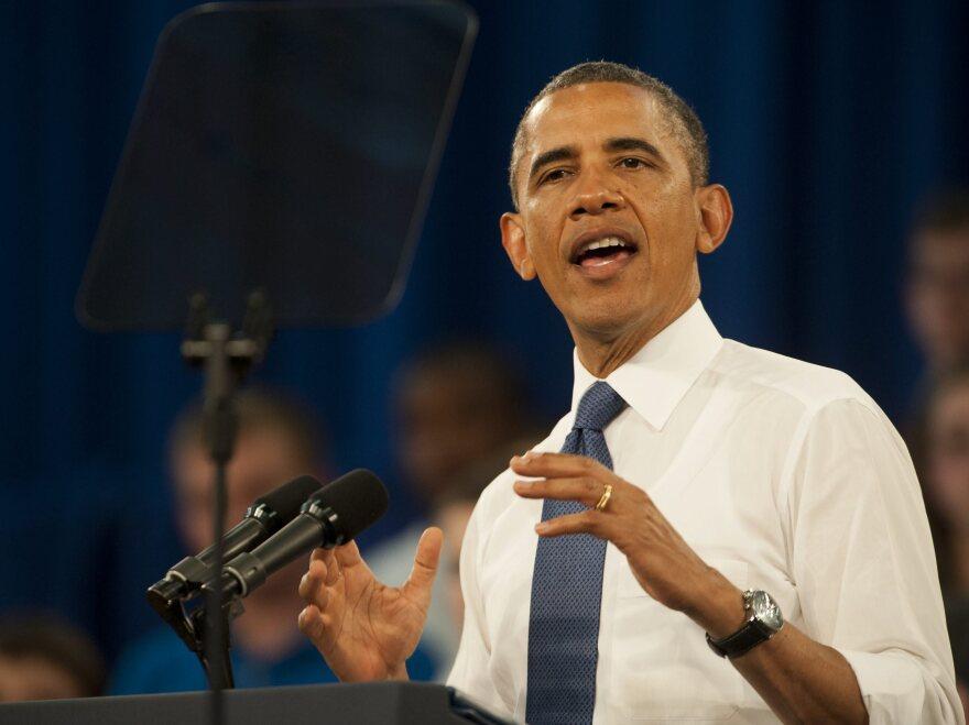 President Obama on Thursday in Mooresville, N.C.