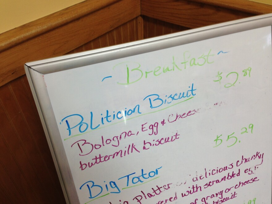 When the menu changes, a buttermilk biscuit makes a functional and delicious dry eraser.