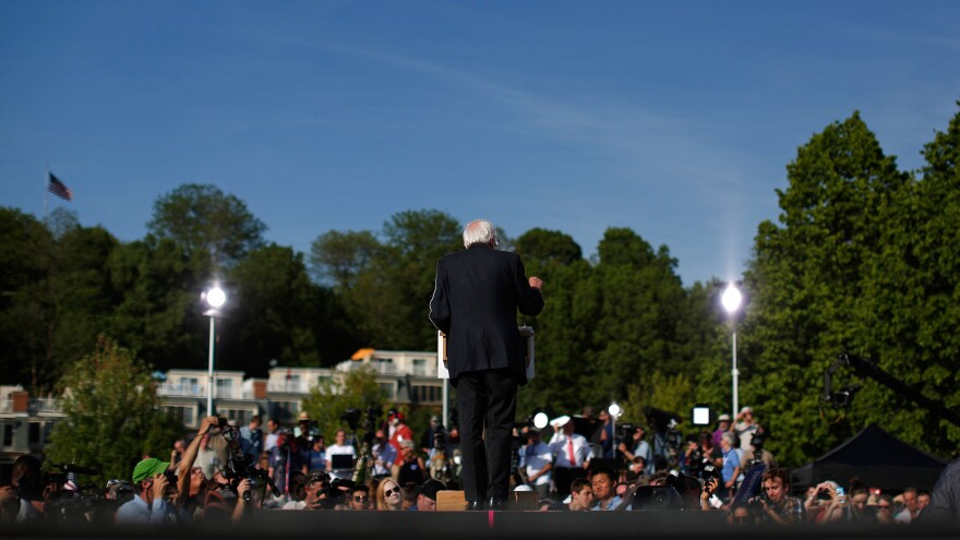 "Announcing his presidential campaign before a crowd of around 5,500 people in May, Sanders  addressed ""brothers and sisters"" in the crowd and invoked ""a political revolution."""