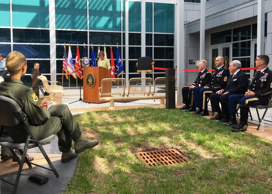 U.S. Rep. Kathy Castor (D-FL) speaks at the grand opening of JSOU.