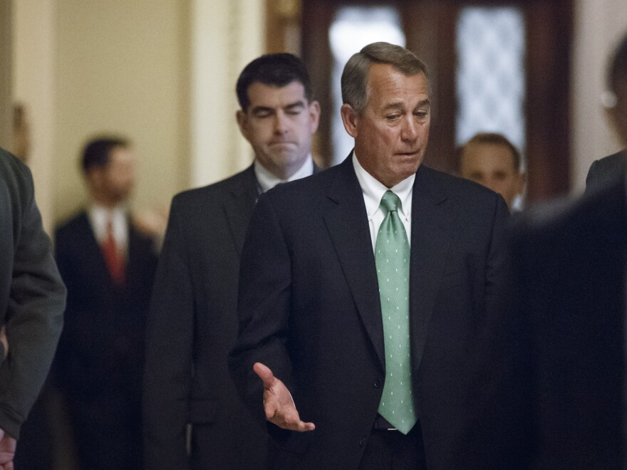 Speaker of the House John Boehner, R-Ohio, leaves the chamber Feb. 3 after another House vote to repeal the Patient Protection and Affordable Care Act.