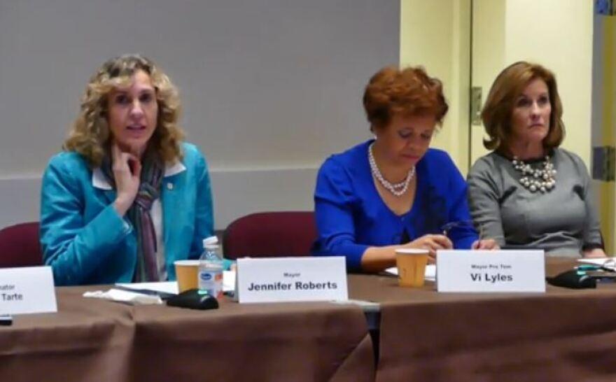 Mayor Jennifer Roberts, Mayor Pro Tem Vi Lyles, Council member Julie Eiseldt