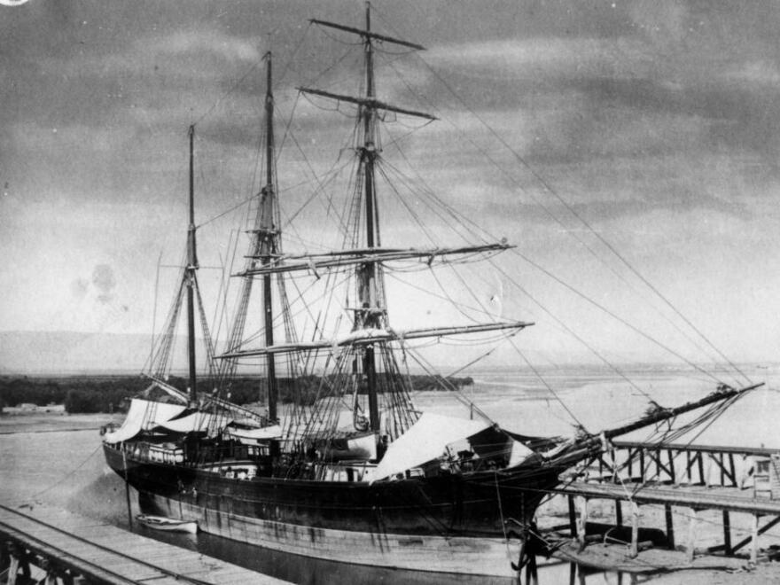 The Empress of China,<em> </em>photographed in 1876. Nearly a century earlier, this trading ship set sail from New York, inaugurating America's trade with China. It went in search of tea.