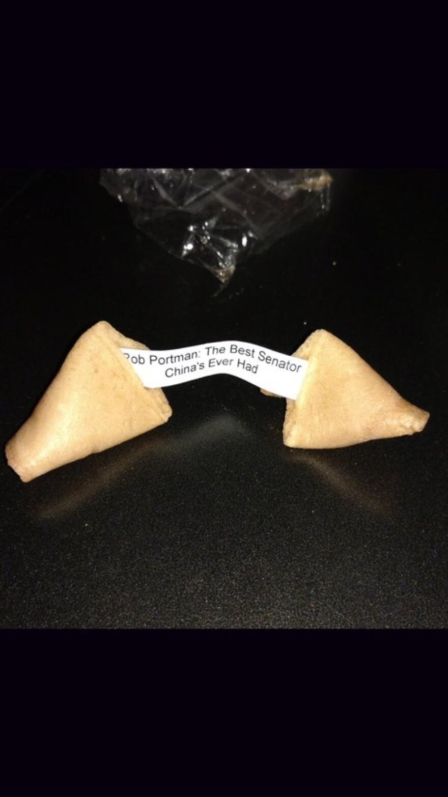 photo of Strickland's fortune cookie