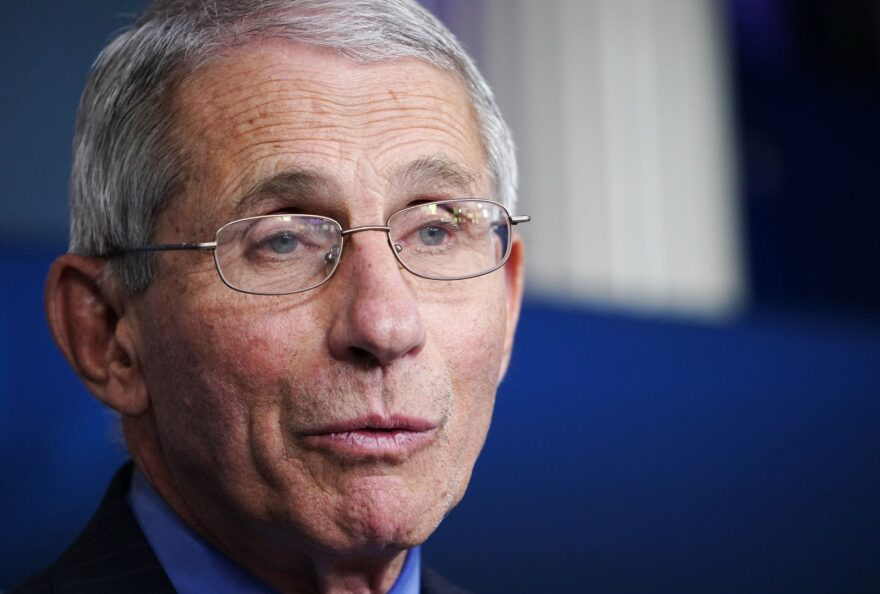 Director of the National Institute of Allergy and Infectious Diseases Anthony Fauci speaks during the daily briefing on the novel coronavirus, which causes COVID-19, in the Brady Briefing Room of the White House.