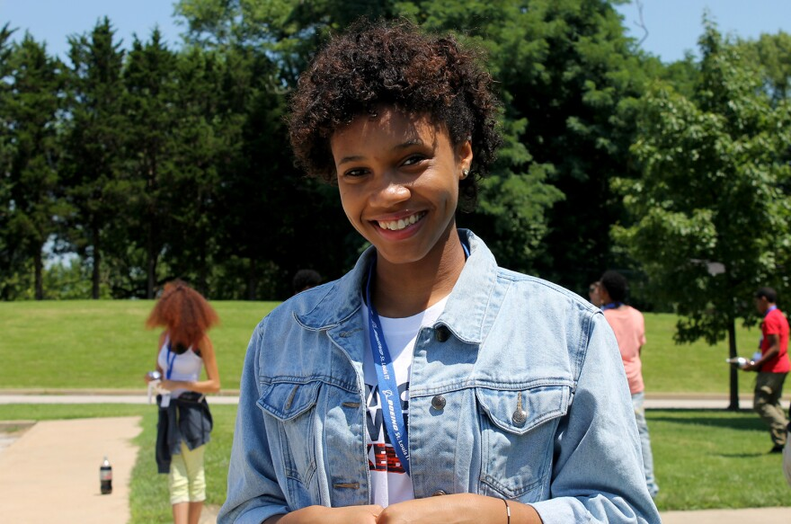 McClure High Sophomore Desirae Weatherspoon wants to be a technical engineer.