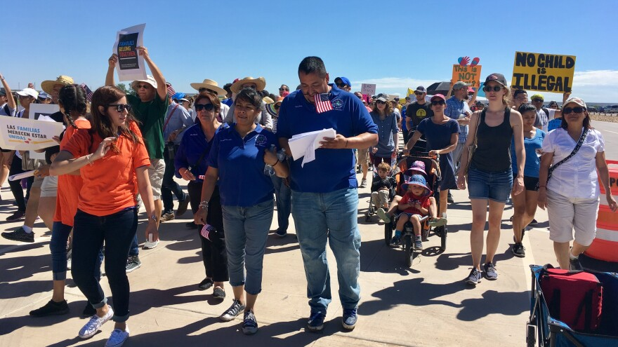 Hundreds of families spent their Father's Day in Tornillo, Texas, protesting the Trump administration's policy of separating children from their parents at the U.S.-Mexico border.