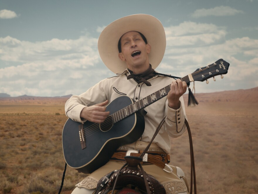 Tim Blake Nelson is Buster Scruggs in <em>The Ballad of Buster Scruggs</em>, a film by Joel and Ethan Coen.